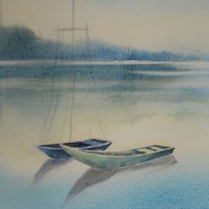 Boats 1, 54x22 cm, 2017, SOLD